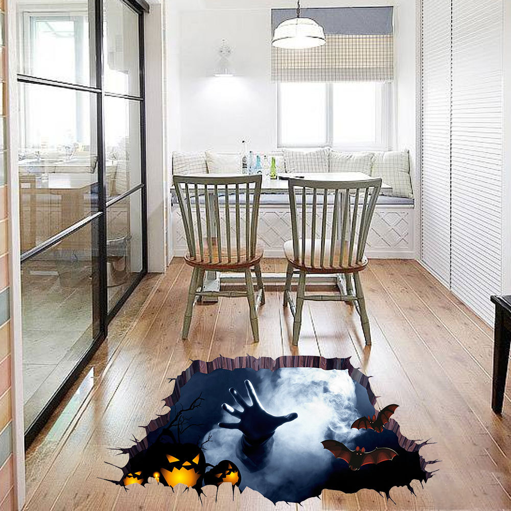 Decoration Diy Wall Stickers Ghost Horror Bat Spider Pumpkin Wallpaper Waterproof Removable Floor Home Decor 6z In From