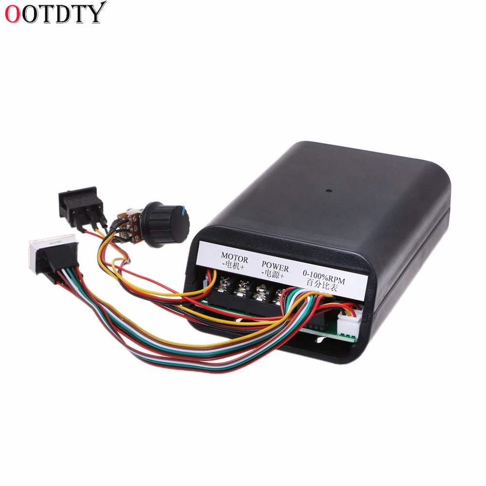 DC 10-55V MAX 60A PWM Motor Speed Controller 0~100% Adjustable Drive Switch Board dc10 55v max 60a pwm motor speed controller 0 100