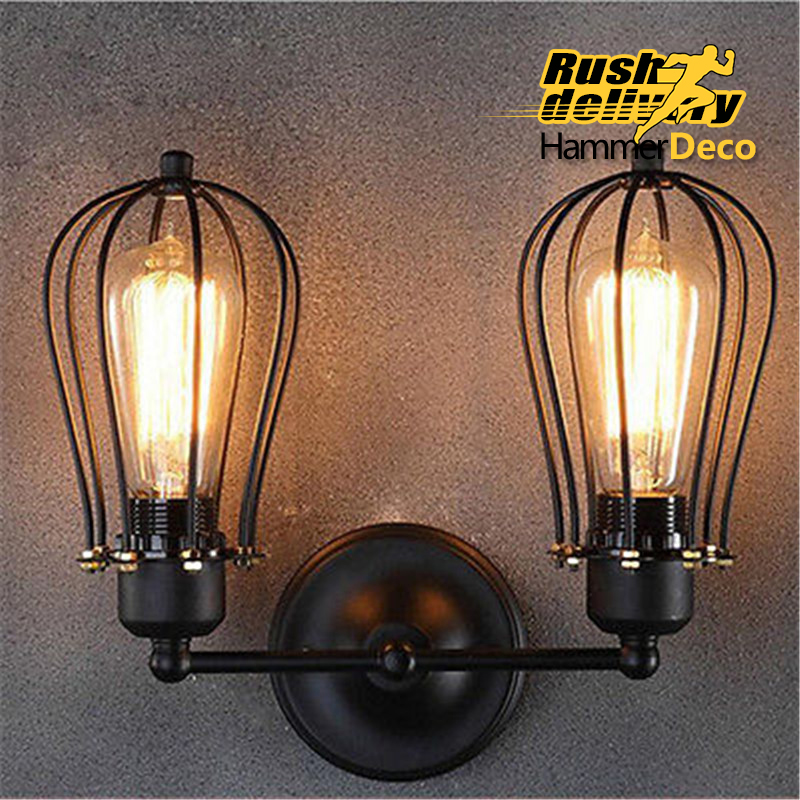 ФОТО decorative brass rustic wall sconces with light shade interior wall double lamps uplighter
