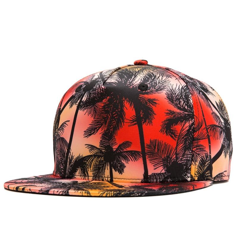 New Spring Summer Baseball Cap Hat Male Female 3d Print Coconut Tree Hip Hop Hat Fashion Girl Hat Snapback Cap For Boy