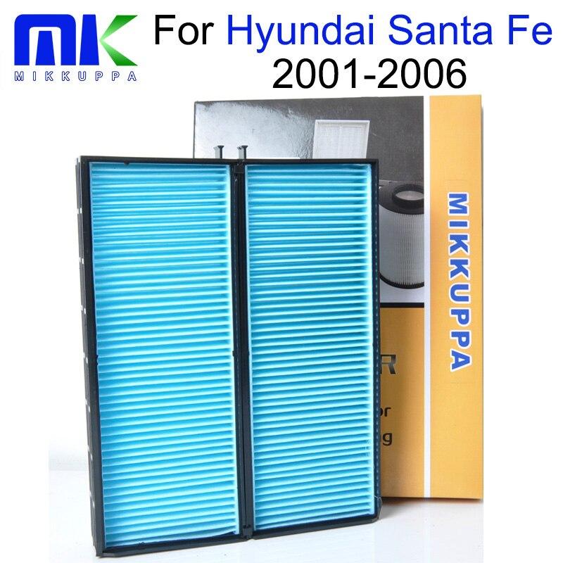 Mikkuppa Cabin Air Filter For Hyundai Santa Fe 2001 2002 2003 2004 2005 2006 Auto Car Accessories OEM: 64319071935