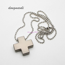Neon Genesis Evangelion Misato Katsuragi EVA Necklace Cosplay Jewelry Pendants Beads Chain Cross Necklace jewelry accessories