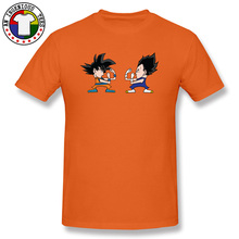 Goku PK Vegeta Classic Anime T Shirts Dragon Ball Z Saiya Superman Teenage Tshirts Orange 100% Cotton T-shirts Funny Tops Tees