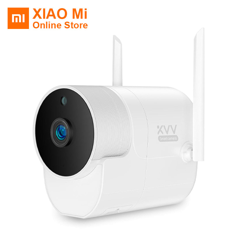 Xiaomi Xiaovv Panorâmico Da Câmera Ao Ar Livre câmera de Vigilância À Prova D' Água 360 1080P WI-FI de Alta-definição de visão Noturna Com Mijia APP