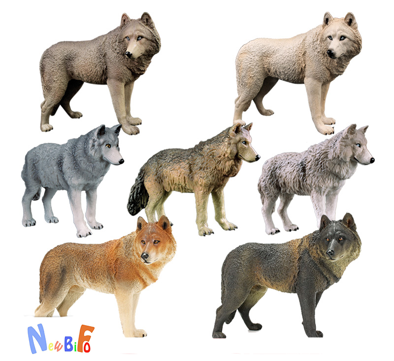 Figures Educational-Toys Animal-Model Wolf Black Children Kids Gift Wild Steppe Hot Big-Plus