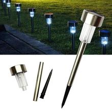LED Solar Lawn Lamps For Garden Decoration Outdoor Pathway Waterproof LED Solar Powered Lawn Lights Outdoor Garden Path  Lamp цена