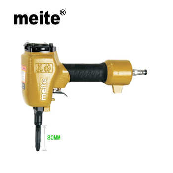Meite shoe nailer SN80 air tools pneumatic nailer shoe gun nail gun for making heel and sole nozzle 4mm Jun.14 Update tool