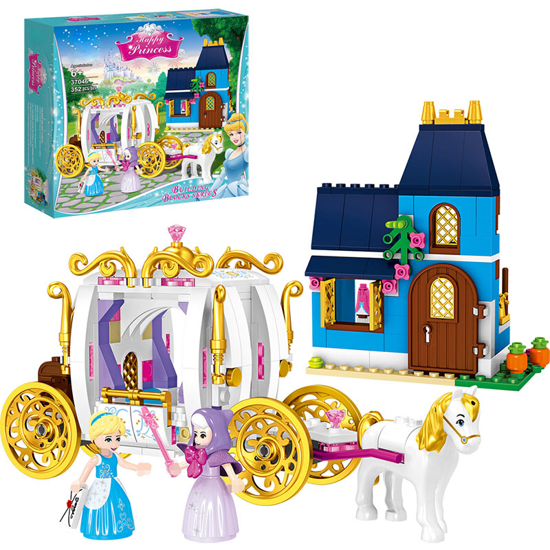 YEXING 352pcs Educational Building Blocks Toys For Children Gifts Castle Girls Friends Princess Prince Mermaid Beauty Beast Snow