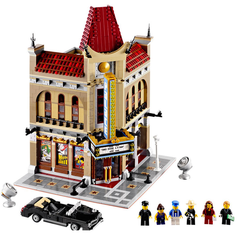 LEPIN 15006 Streetview Series 2354pcs The Palace Cinema Model Building Block Bricks set Toys For children Legoing 10232 Gift lepin 24020 creative series features robo explorer set 31062 model building kits block bricks toys gift for children