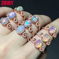 Opal Stone Ring Real Gem Solid 925 Sterling Silver 100 Natural Gemstone Rings Platinum Plated Many