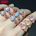 Anillo de piedra Verdadera joya esterlina del sólido 925 de plata del Ópalo de fuego 100% anillos de piedras preciosas naturales joyería de la mujer