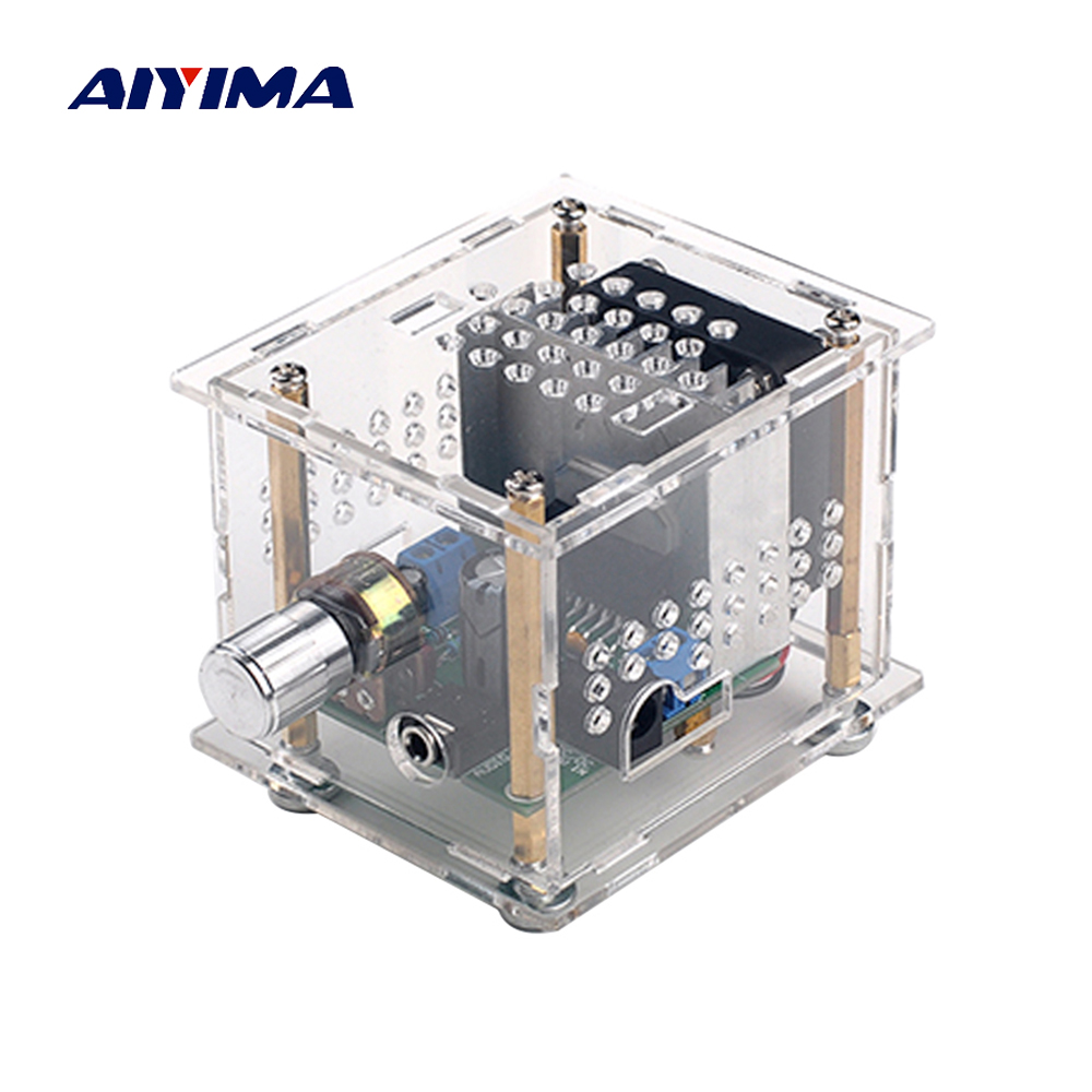 Aiyima TDA7297 Digital Amplifier Board 15W+15W HIFI 2.0 Dual Channel Audio Amplifier Board For Mini Bookshelf Box tda7297 version b 2x15w amplificatore stereo digital audio amplifier amplificador module board dual channel ampli electro 9 15v