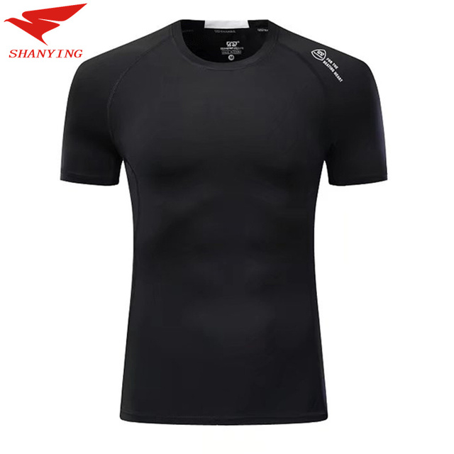 540f03566d03 2018 Men Quick Dry Sport Running T Shirt Bodybuilding Clothing Fitness  Compression Tights Clothes Gym Short Sleeve black colors