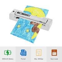 Портативный палочка сканер и автоматическая подача док База a4 фото документ сканер 1200 Точек на дюйм Цвет/моно для офиса банка школа бумаги ф