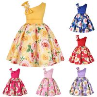 Kids Dresses for Girls Rose Princess Lol Party Summer Dress Wedding Tutu Clothes Sleeves