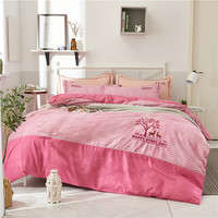 Extra Thick Warm Bedding Set Duvet Cover kit Pillow Case Flat Round Corner Bed Sheet Embroidery Deer Tree 4 Season Bedroom Kits