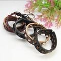 50 strands Mixed color Wholesales Leather Bracelets with Nylon Thread Cross Weave For Wonen Man Jewelry gift 55mm