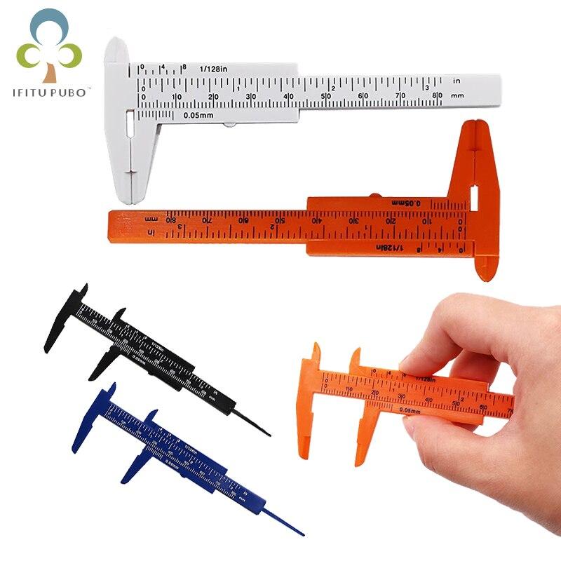 Sliding Mini Plastic Vernier Calipers Micrometer Tool Gauge Ruler Measure 80mm