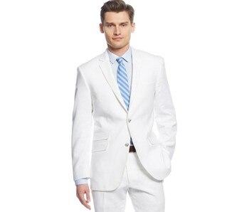 c52843e5daaf Último abrigo pantalones diseños blanco hombres trajes boda negocios hombre  Blazer novio esmoquin ajustado traje novio fiesta 2 piezas