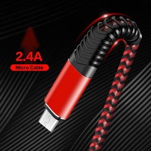 Image 2 - מיקרו USB כבל מהיר תשלום USB נתונים כבל ניילון כבל סנכרון לסמסונג Huawei Xiaomi Andriod מיקרו usb טלפון גמיש כבל