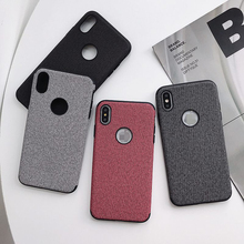 Fashion Textured Mobile Phone case For iphone XR X XS Max 6 6S 7 8 Plus Business simplicity Pure color new mobile phone shell