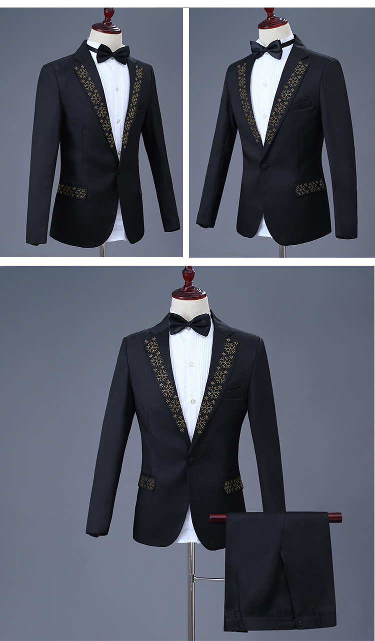 5c6c1f5da24 2019 Shining Crystals Men Suits Adult Costume Wedding Master Prom ...