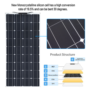 Image 3 - XINPUGUANG 2PCS 4PCS 1175*540mm Solar Panel 18V 100W Mono Cell Flexible Car/Yacht/Steamship 12V 24 Volt 100 Watt Solar Battery