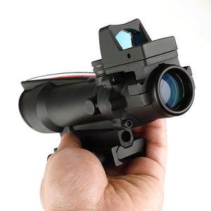 Image 5 - ohhunt 5X35 ACOG Style Three Model Reticle Red or Green Illuminated Tactical Rifle Scope with Red Dot for cal .223 .308 Rifle