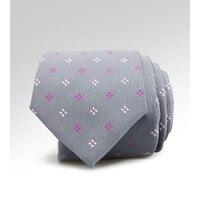 British Tie Men S Professional Attire Business Casual Grey Bottom Powder Purple Tie