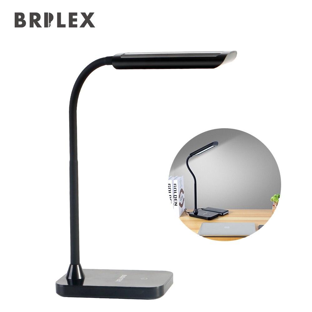 BRILEX Schreibtisch Lampe LED Tisch Lampe Klassische Schwarz Lampe 3 Beleuchtung Modi Einstellbare Flexible Arm Schreibtisch Lampe für Lesen Studium etc.