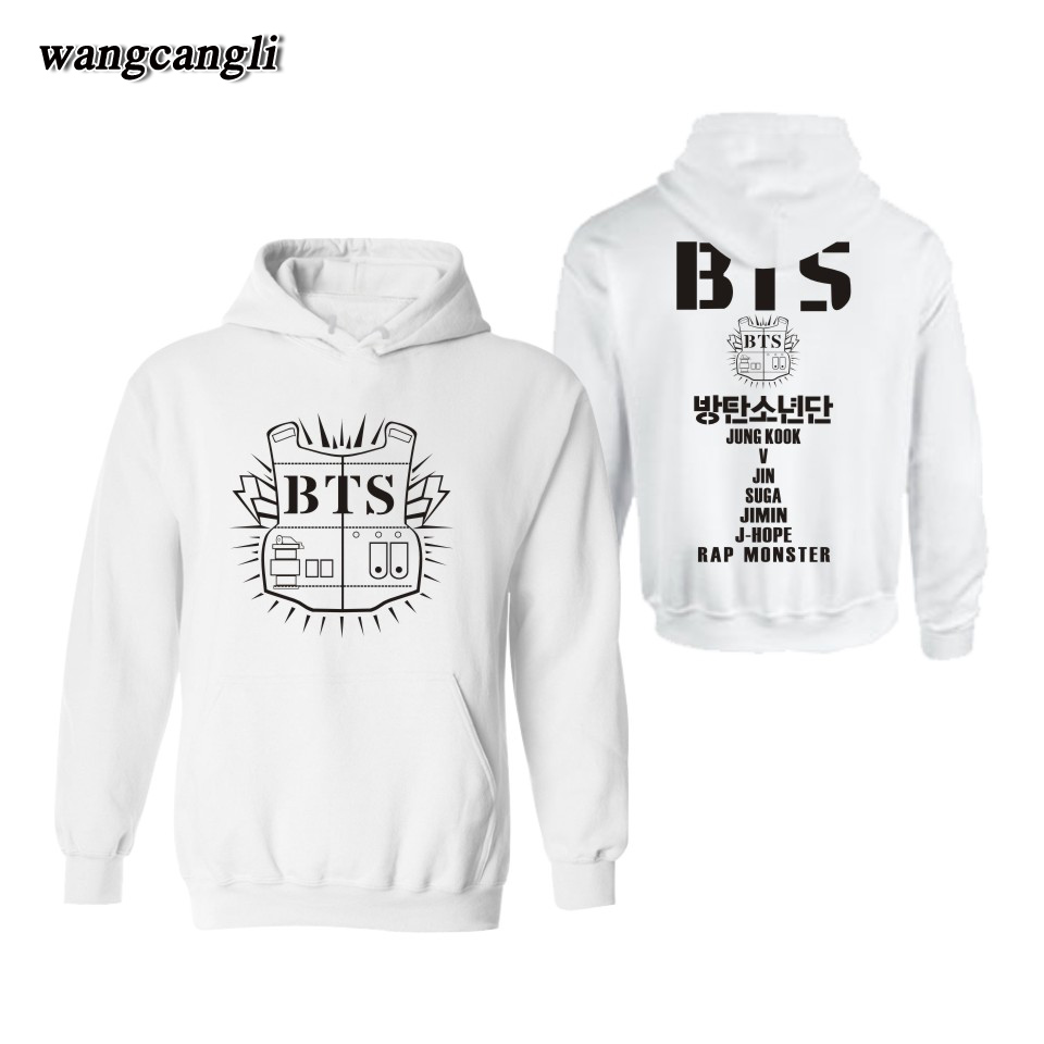 BTS Bangtan Boys Member Fans hoodies Women Men Korean Kpop Cotton Hoodie Sweatshirt Women Streetwear Jacket Coat Plus Size 4XL