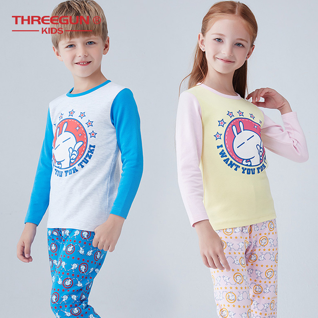 345ddc44b6ca Cute Girls Boys Pajamas Sets Cartoon Children Clothes Cotton Pyjamas ...