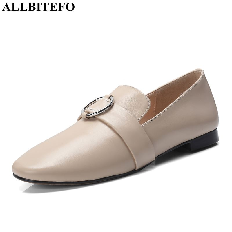 ALLBITEFO high quality soft genuine leather women shoes women flats sneakers shoes flat heel shoes office ladies shoes ALLBITEFO high quality soft genuine leather women shoes women flats sneakers shoes flat heel shoes office ladies shoes