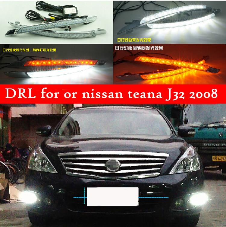 цена на Hot sale Ultra-bright LED fog lamp light LED DRL daytime running light turn signals light for nissan teana J32 2008 2009 2010