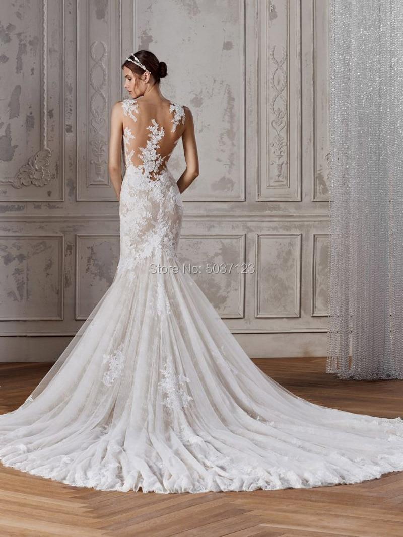 Mega Deal Lace Mermaid Wedding Dresses Vestidos De Noiva V