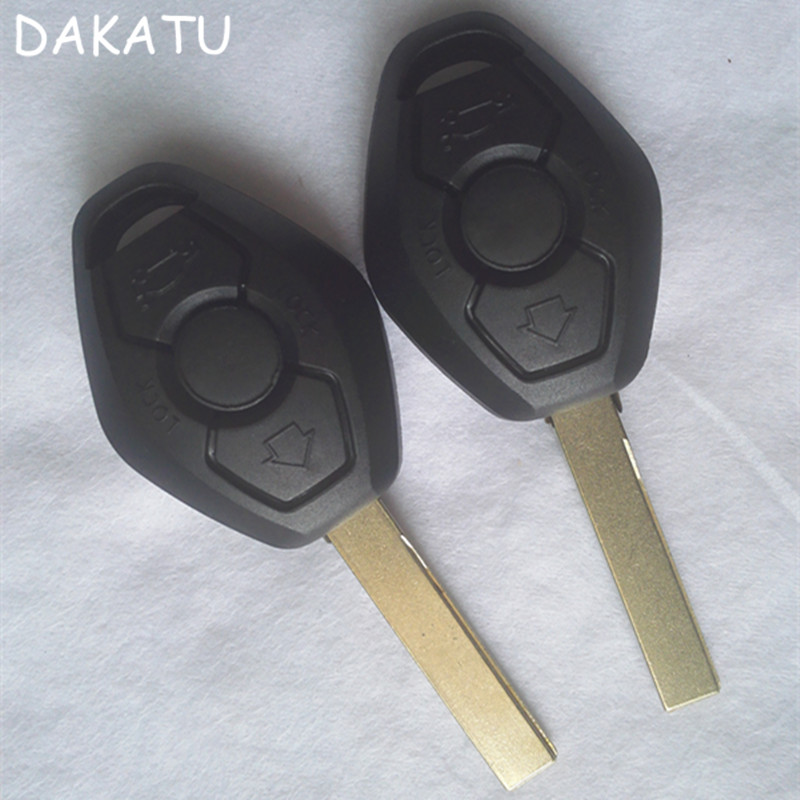 DAKATU HU92 ใบมีด 3 ปุ่ม Remote Key กรณีเชลล์สำหรับ BMW X5.X3.320.325.520.523.525.530