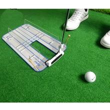 цена Golf Putting Mirror Alignment Training Aid Swing Trainer Eye Line Golf Practice Putting Mirror Large Golf Accessories онлайн в 2017 году