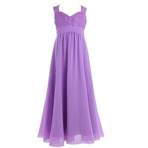 Image 5 - 4 14Years tuổi Trẻ Cô Gái Hoa Voan Ren Ăn Mặc cho Bữa Tiệc và Phù Dâu Đám Cưới Một shoulder Dress Prom Trang Phục Chính Thức Maxi ăn mặc