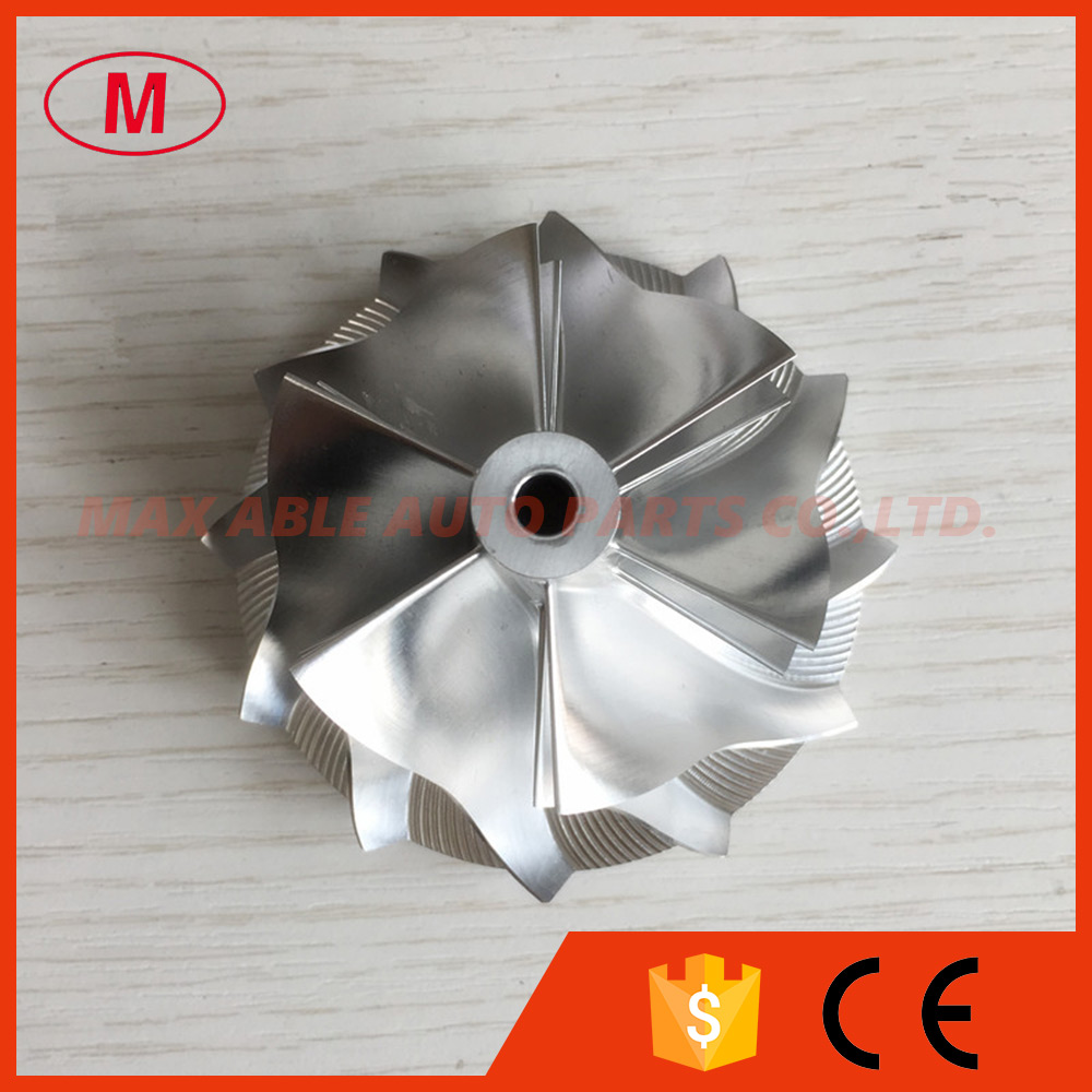 GT15 25 6+6 Blades 50.20/65.00mm  702549 0008HF V1 high performance turbo billet/aluminum 2618/milling compressor wheel-in Air Intakes from Automobiles & Motorcycles    2