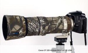 Image 2 - ROLANPRO Lens Kamuflaj Ceket yağmur kılıfı Canon EF 100 400mm f4.5 5.6 L IS USM Lens Koruyucu kılıf Lens koruma kollu