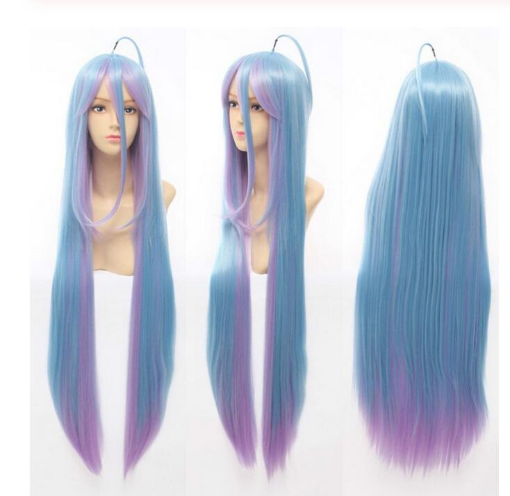 Jewelry Wig 80cm Long Wigs No Game No Life Shiro Long Cosplay Wig Free Shipping