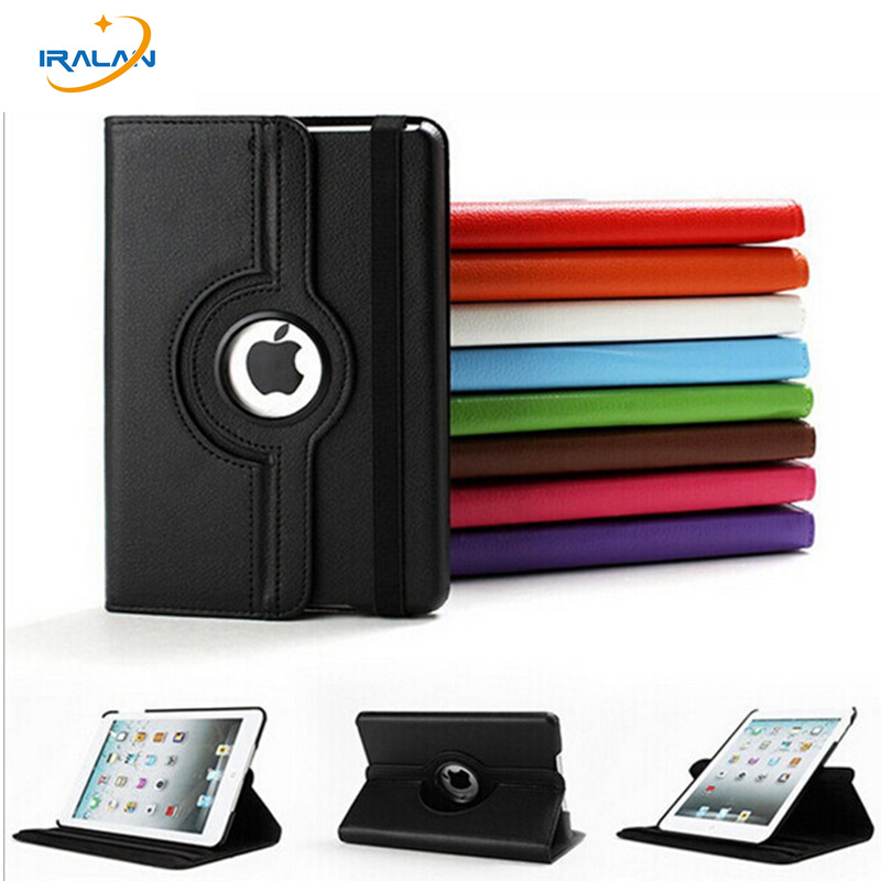 360 Rotating PU Leather stand Cover Case For Apple New iPad 2017 9.7 inch A1822 Tablet Smart Protective Shell+stylus+screen film slim case for apple ipad air air2 ipad 5 6 smart cover cowboy pu leather soft silicone folio stand protective shell film pen
