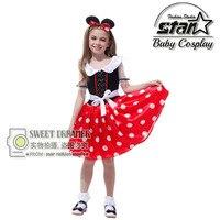 Kids Christmas Birthday Gift Minnie Mouse Party Fancy Costume Halloween Cosplay Girls Fashion Tutu Mini Dress