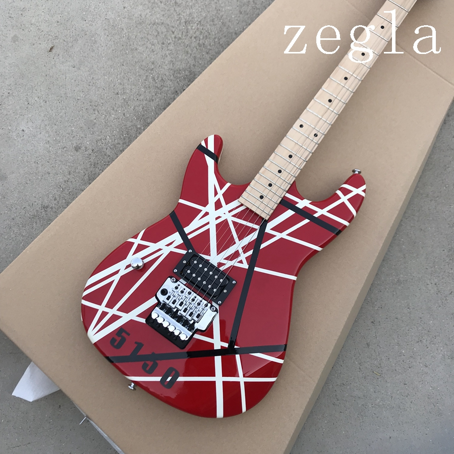 2018 New + Factory + left handed Kram EVH 5150 electric guitar Eddie Van Halen Kram lefty 5150 guitar free shipping