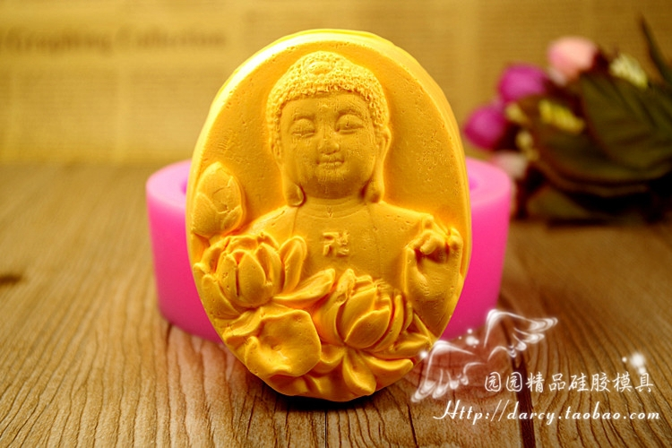Buddha Silicone Soap mold DIY Handmade Craft 3d soap molds S308