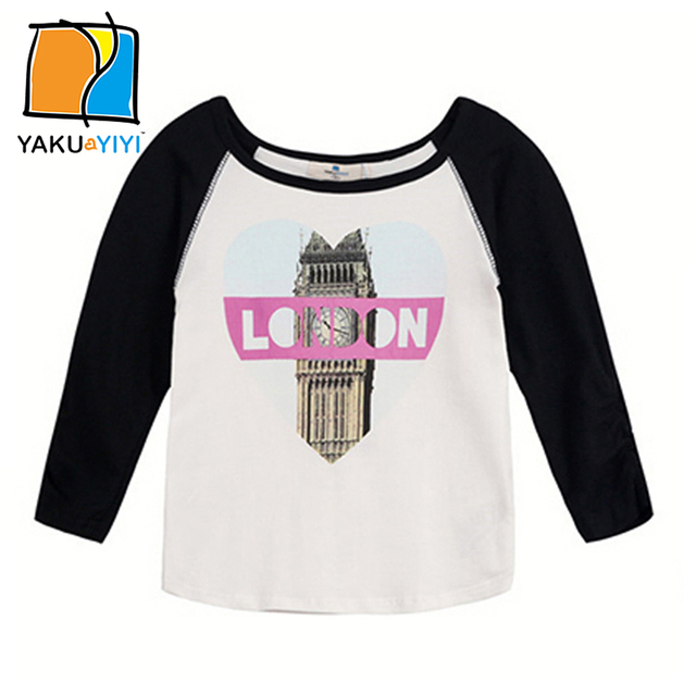 09e47c9bedde YAKUYIYI Brand New Summer Girls T shirt printed big ben kids t ...
