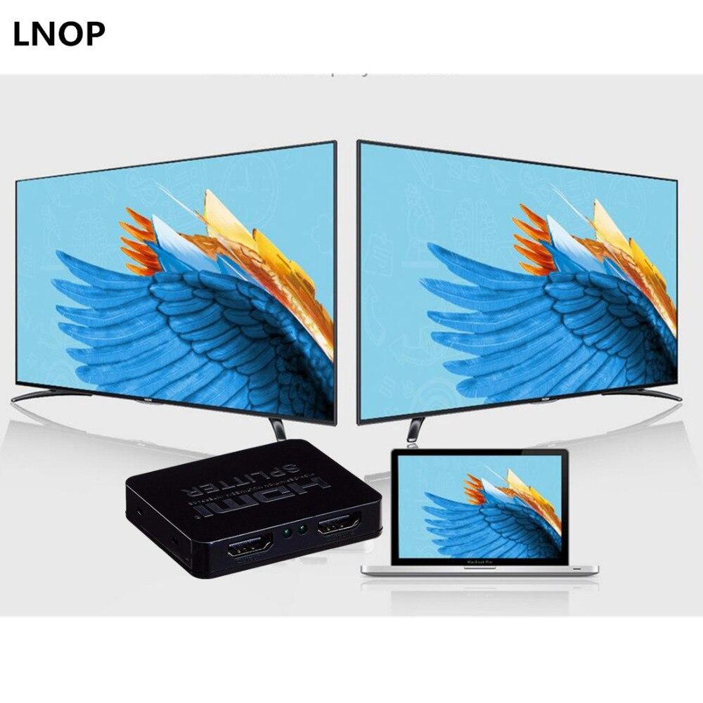 1 in 2 HDCP 4 karat HDMI Splitter Volle HD 1080 p Video HDMI Switch Switcher 1X2 Split heraus Verstärker Dual Display Für HDTV DVD PS3 Xbox