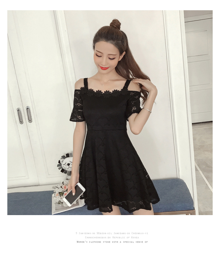 18 New fashion women summer lace sexy dress white Korean style clothes for womens vestido de festa mini white clothings 15
