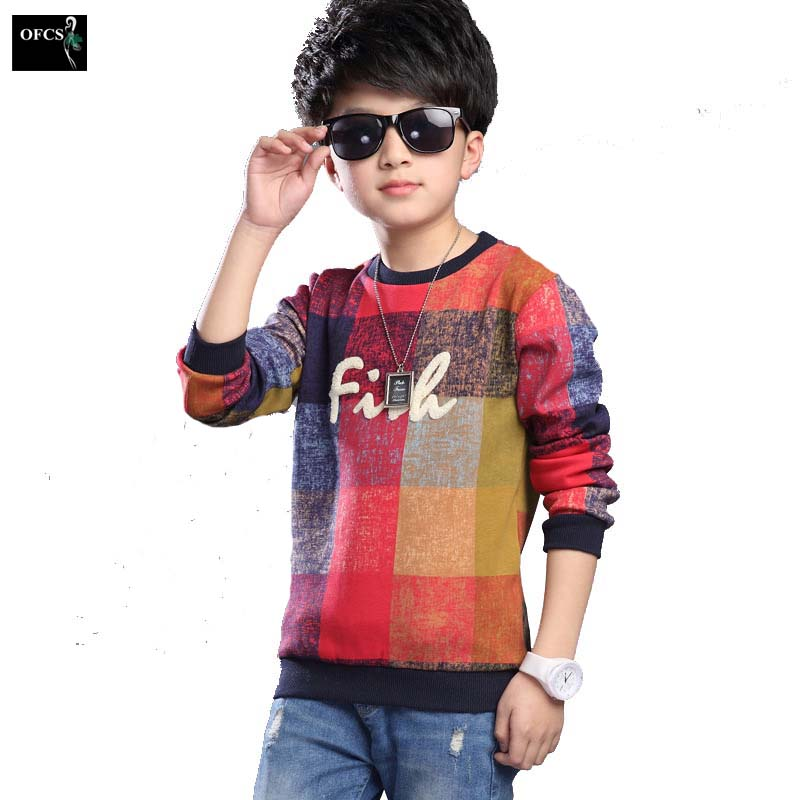 New Design Boys Leisure Space Design Sweater Square Model Children Warm T-shirts,Sweater Kids Knitting Children's Clothin 5-15
