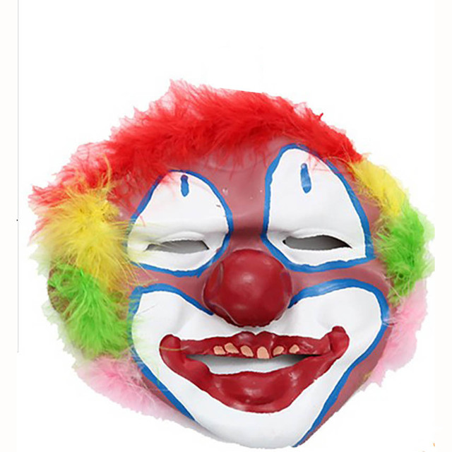 Newest Halloween Clown Mask Ball Dress Accessories Clown Accessories Exaggerated Funny Mask Clown Wig Toy For Adults Gift